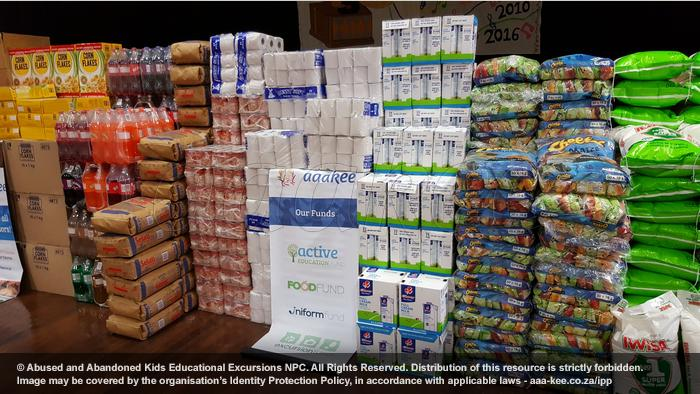 Food and groceries donated to Ithembelihle Lsen School in